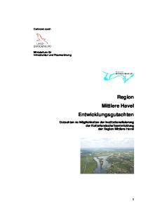 Region Mittlere Havel Entwicklungsgutachten