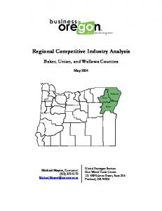 Regional Competitive Industry Analysis