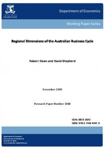Regional Dimensions of the Australian Business Cycle