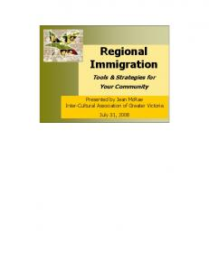Regional Immigration Tools & Strategies for Your Community