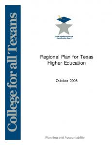 Regional Plan for Texas Higher Education