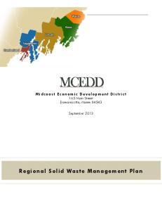 Regional Solid Waste Management Plan