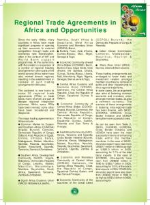 Regional Trade Agreements in Africa and Opportunities