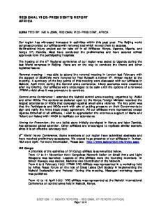 REGIONAL VICE-PRESIDENT S REPORT AFRICA