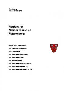Regionaler Nahverkehrsplan Regensburg