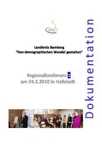 Regionalkonferenz 1 am in Hallstadt