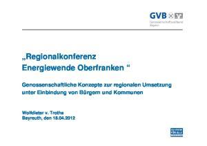 Regionalkonferenz Energiewende Oberfranken