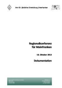 Regionalkonferenz für Mainfranken