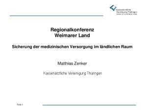 Regionalkonferenz Weimarer Land