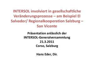 Regionalkooperation Salzburg San Vicente