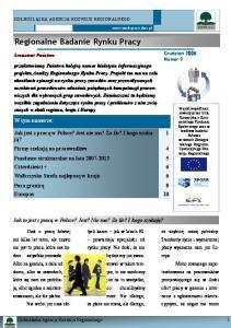 Regionalne Badanie Rynku Pracy