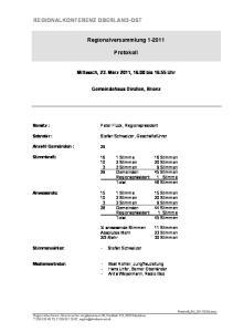 Regionalversammlung Protokoll