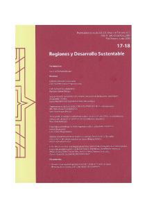 Regiones y Desarrollo Sustentable 17-18