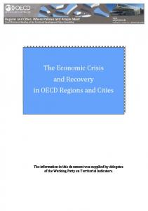 Regions and Cities: The Economic Crisis and Recovery