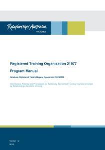 Registered Training Organisation 21977
