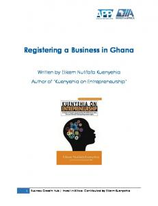 Registering a Business in Ghana