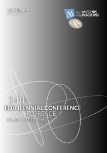 REGISTRATION BROCHURE. 14th ELIA BIENNIAL CONFERENCE FLORENCE