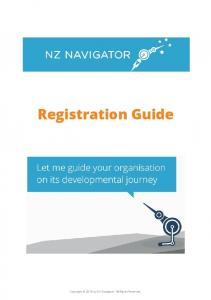 Registration Guide. Copyright 2016 by NZ Navigator. All Rights Reserved
