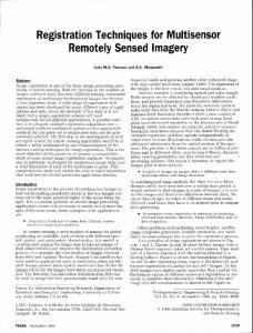 Registration Techniques for Multisensor Remotely Sensed Imagery