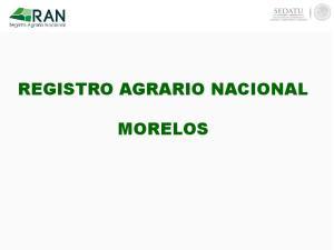 REGISTRO AGRARIO NACIONAL MORELOS