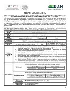 REGISTRO AGRARIO NACIONAL