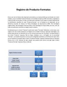 Registro de Producto-Formatos