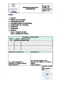 REGISTRO DE SALIDA DE DOCUMENTOS