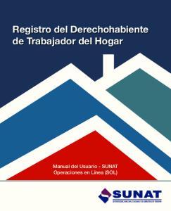 Registro del Derechohabiente de Trabajador del Hogar - Manual del usuario