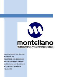 REGISTRO FEDERAL DE CAUSANTES: MEC PZ6 REGISTRO DEL IMSS: B REGISTRO INFONAVIT: DIRECCIÓN: AV. INDUSTRIALES #245 COLONIA