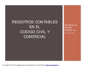 REGISTROS CONTABLES EN EL CODIGO CIVIL Y COMERCIAL