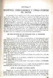 REGISTROS, CUESTIONARIOS Y OTRAS FUENTES DE DATOS