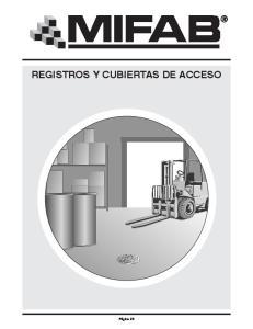 REGISTROS Y CUBIERTAS DE ACCESO