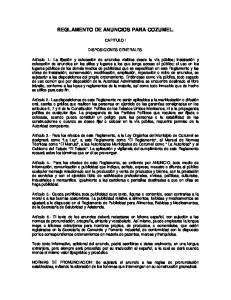 REGLAMENTO DE ANUNCIOS PARA COZUMEL