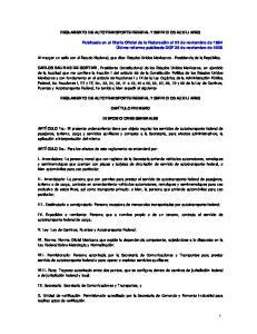 REGLAMENTO DE AUTOTRANSPORTE FEDERAL Y SERVICIOS AUXILIARES