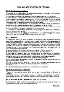 REGLAMENTO DE BECAS DE ESTUDIO