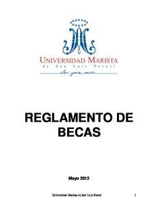 REGLAMENTO DE BECAS Mayo 2012