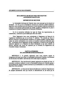 REGLAMENTO DE BECAS PARA ESTUDIANTES APOYOS ESTUDIANTILES EXPOSICION DE MOTIVOS