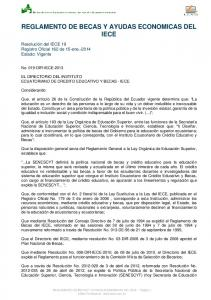 REGLAMENTO DE BECAS Y AYUDAS ECONOMICAS DEL IECE
