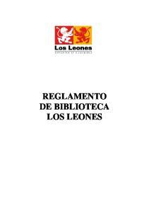 REGLAMENTO DE BIBLIOTECA LOS LEONES