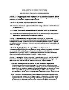 REGLAMENTO DE BIENES Y SERVICIOS DEL COLEGIO UNIVERSITARIO DE CARTAGO