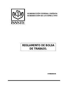 REGLAMENTO DE BOLSA DE TRABAJO