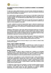 REGLAMENTO DE BOLSAS DE TRABAJO DE LA COMARCA DE SOBRARBE Y SUS ORGANISMOS AUTONOMOS