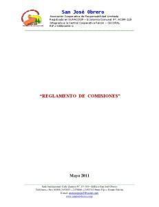 REGLAMENTO DE COMISIONES. Mayo 2011