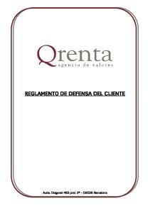 REGLAMENTO DE DEFENSA DEL CLIENTE
