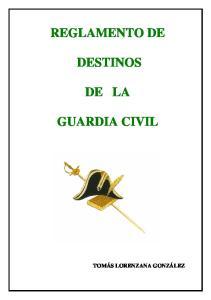 REGLAMENTO DE DESTINOS DE LA GUARDIA CIVIL