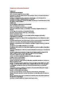 Reglamento de Disciplina Estudiantil