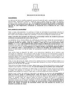REGLAMENTO DE DISCIPLINA