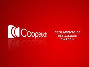 REGLAMENTO DE ELECCIONES Abril 2014
