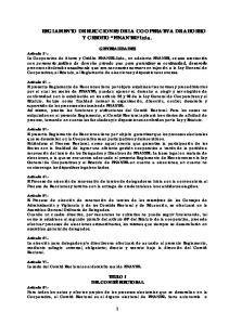 REGLAMENTO DE ELECCIONES DE LA COOPERATIVA DE AHORRO Y CREDITO FINANTEL Ltda
