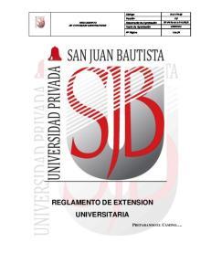 REGLAMENTO DE EXTENSION UNIVERSITARIA